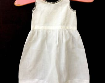Darling Antique Doll's Petticoat with Tatted Trim