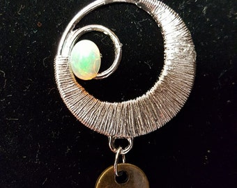 Spiral Opal Pendant with Hope Tag
