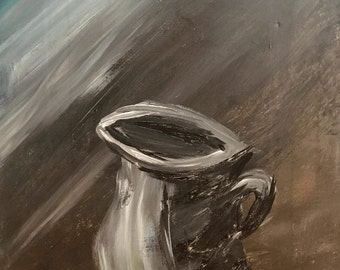 Gray Water Pitcher