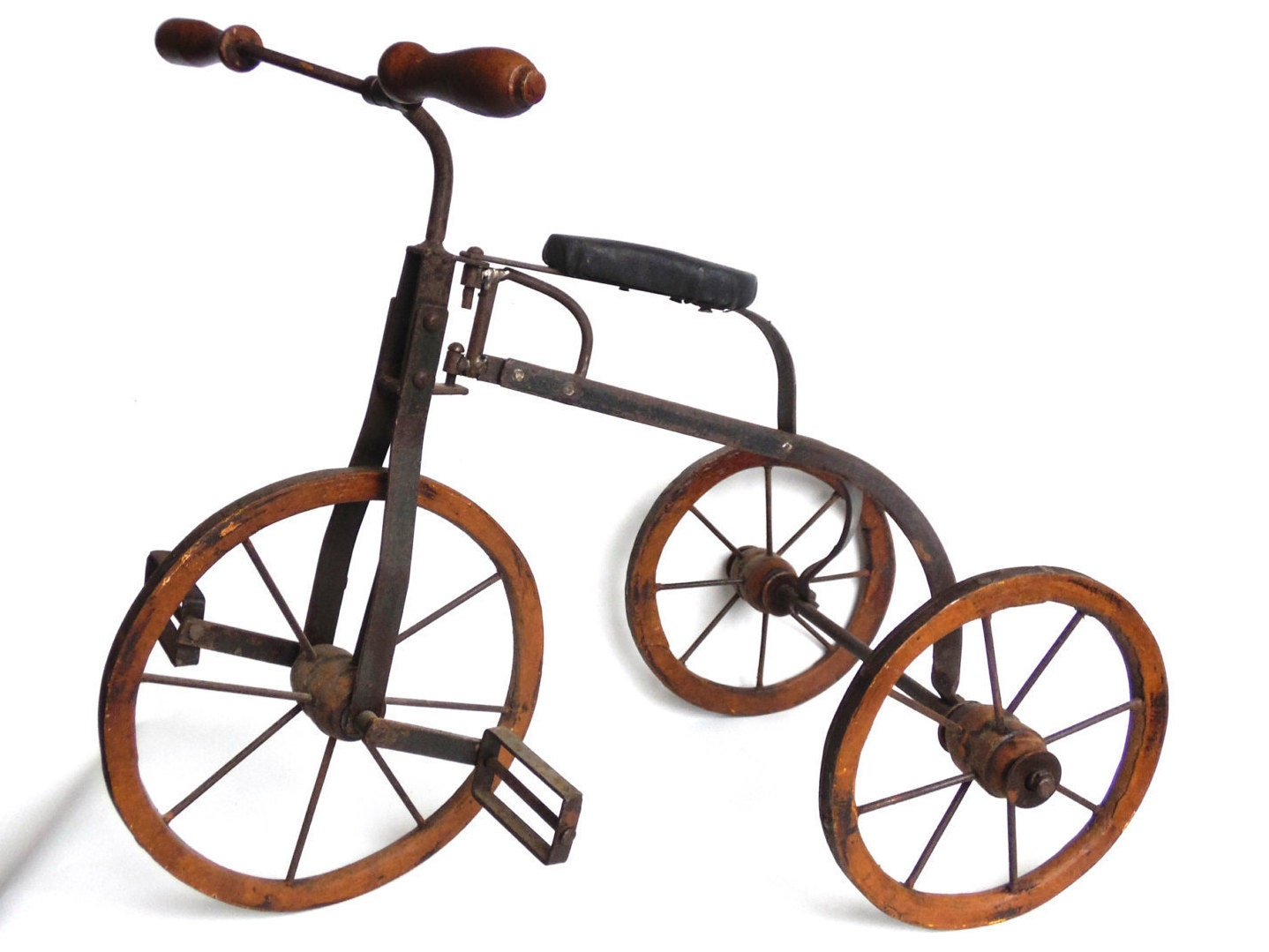Makers Of Antique Tricycles : Tricycle metal wooden toy antique doll replica
