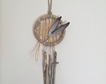 Boho Wall Hanging/Rustic Wall Decor/Driftwood Wall Hanging/Bohemian/Boho Dream Catcher/Dreamcatcher/Wall Hanging/Bohemian Wall Hanging