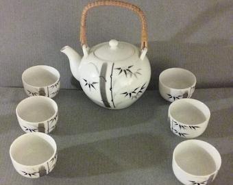 From Japan: Beautiful 1950's 7-Piece Otagiri Tea Serving Set, Superb Condition