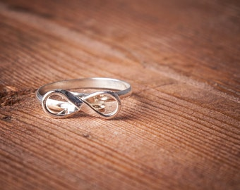 925 Sterling Silver Infinity Ring Sterling Silver Adjustable Infinity Ring 925 Sterling Silver Ring Silver Ring Infinity Ring