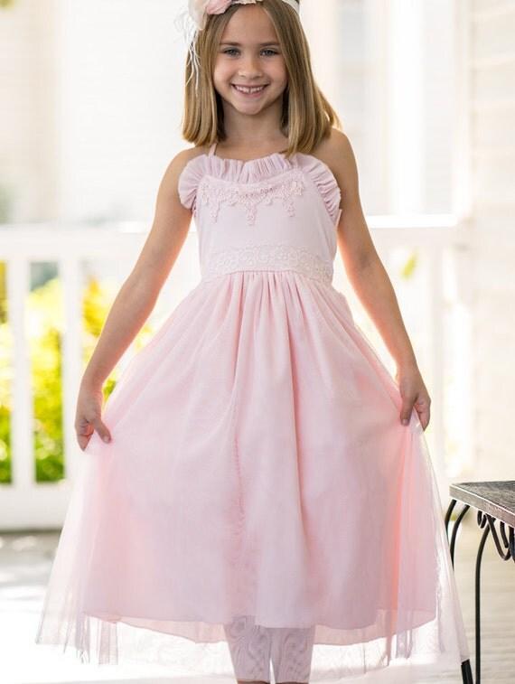 Rosa Mädchen Kleid rosa Blumenmädchen Kleid Valentines Day