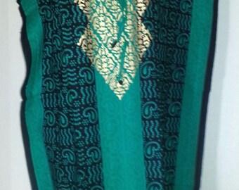 100% Cotton, High Quality, Women Hippie Boho Caftan Kimono Sleeve Cover up Summer Dress Kaftan Dress Maxi Long Gown Lounge Wear Free Size 60