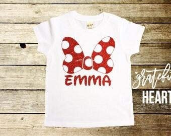 Minnie Mouse shirt, Custom Minnie Mouse shirt, Personalized Minnie Mouse shirt, Minnie Mouse bow shirt, Minnie Mouse Birthday, Minnie Mouse