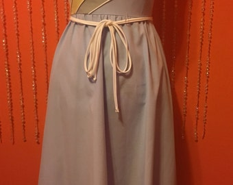 Vintage Rainbow pastel blue 70's/80's dress
