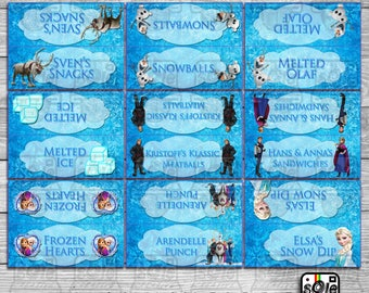 Frozen Party Food Display Cards!