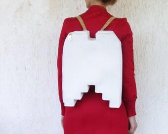 Angel Wings Backpack,  minimalist backpack, white wings, white backpack