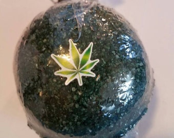 420 - Weed Scented Bath Bomb - Marijuana Fragrance - Weed Scent - Green Bath Water - Pot Scented Bath Bomb - Cannabis Scent Bath Bomb -