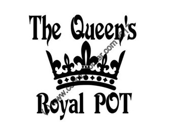 The Queen's Royal Pot Appliance Decal