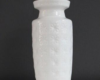 Mid century Scheurich pottery vase 261 22 Prism West Germany vintage white flower vase 60s