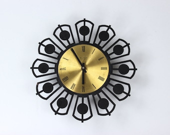 Mid century modern Weimar electronic wall clock clock clock kitchen watch watch wallclock vintage 60's Germany