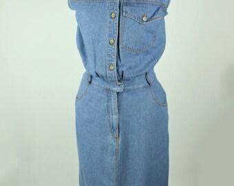 Collared & Button up Denim Dress