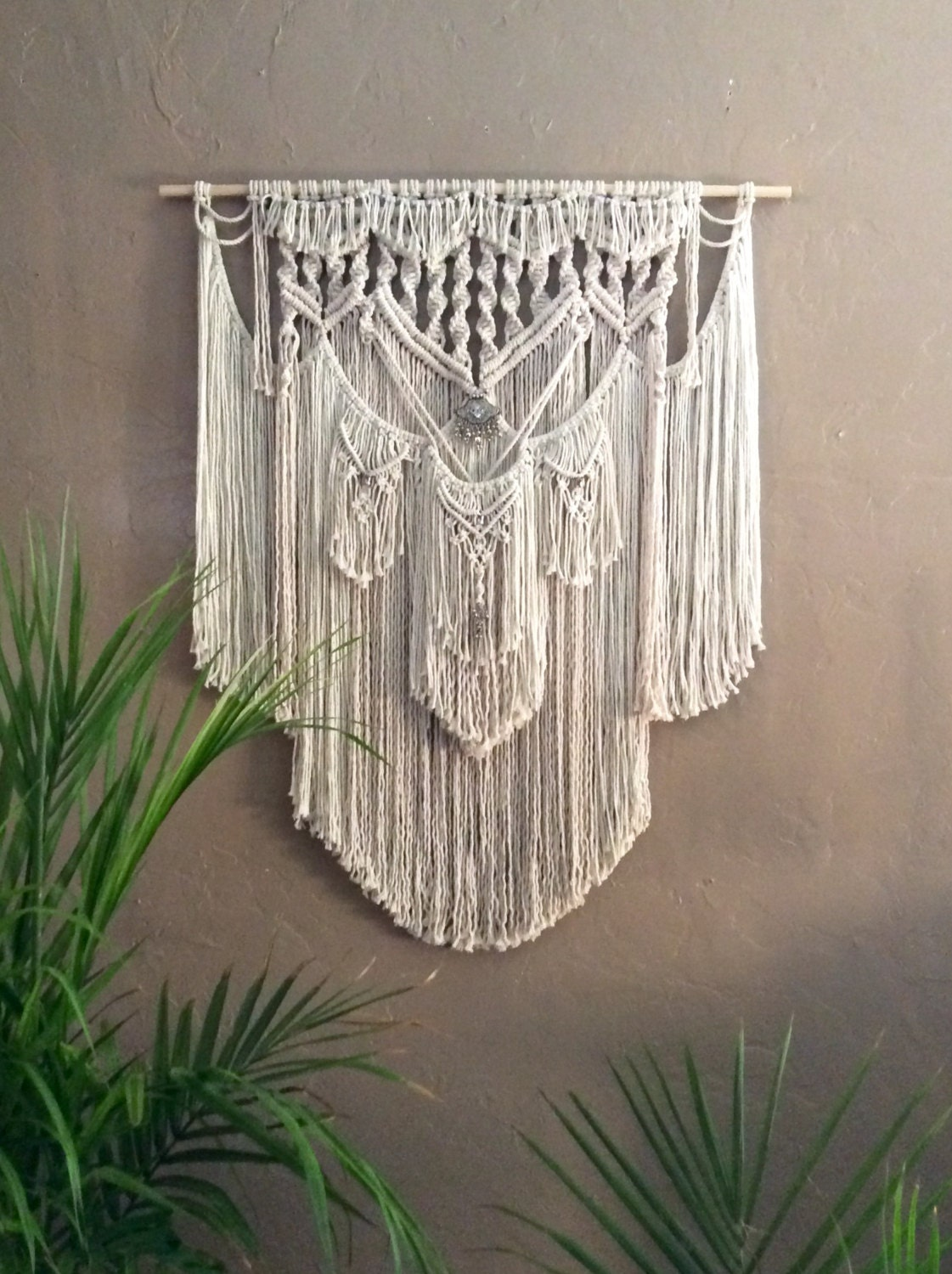 Hippie decor macrame wall hanging tapestry wall by for Wall hanging