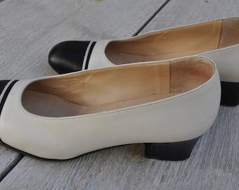 Vintage bicolor leather shoes TED LAPIDUS Size 36 FR