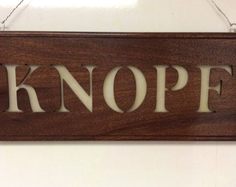 Wood carved, Stained Glass Sign