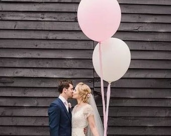 """White HUGE 36"""" inch Balloon oval Latex Balloons Big Latex Balloon Wedding Wedding Decor & Party Balloon Supplies"""