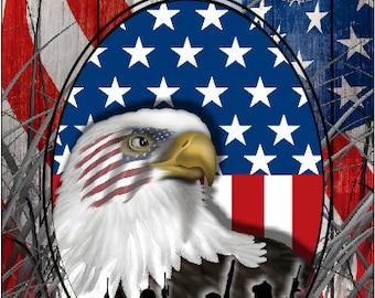 Military Honor Vets Patriotic Flag Cornhole Wrap Bag Toss Decal Baggo Skin Sticker Wraps