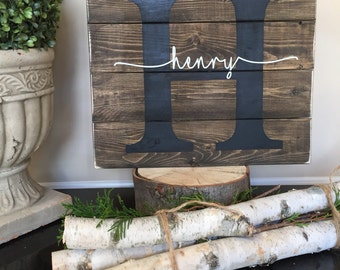 Child Name Pallet Sign, Baby Name Wood Sign, Childs Room Decor, Birthday Gift, Baptism Gift, Custom Wood Sign, Baby Shower Gift, Newborn