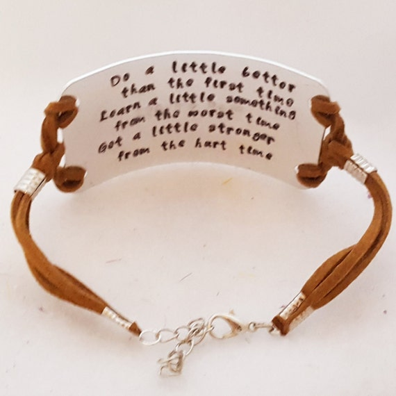 Custom Engraved Leather Wrap Bracelet, Custom Engraving, One of a Kind Gifts, Hand Stamped Jewelry, Personalized Gifts, You Pick the Message