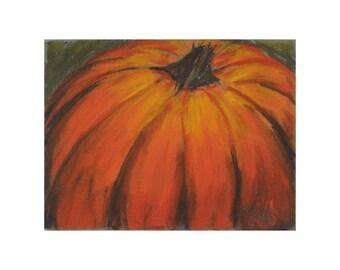 Pumpkin in Pastel - original artwork