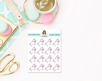 Pastel Unicorn Planner Stickers