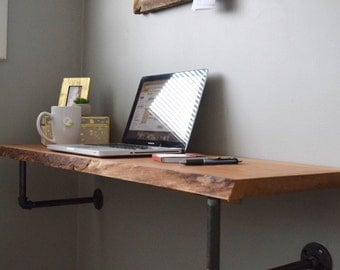 Live Edge Floating Desk
