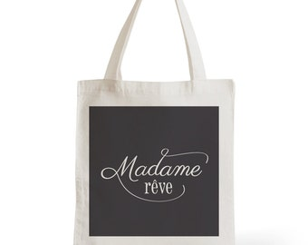 Tote Bag Lady dream, gift for her, typography, statement, quote