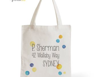 Tote Bag Dory, gift for her, gift for him, typography, statement, quote, Cinema