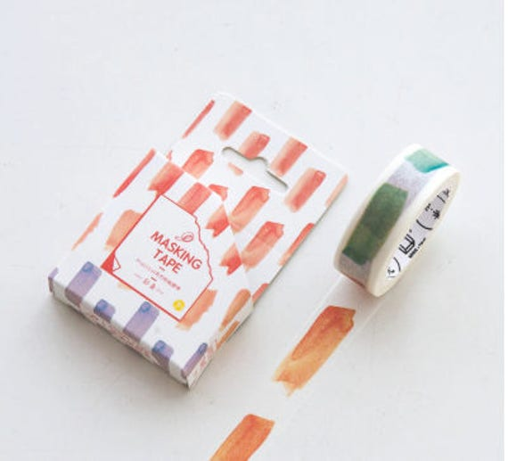 Paint strokes planner washi tape colorful washi tape for Paint planner