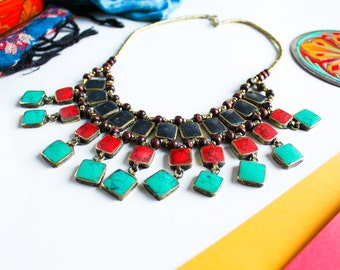 SUHAAG CHOKER NECKLACE   boho chic choker bollywood inspired pakistan indian jewellery