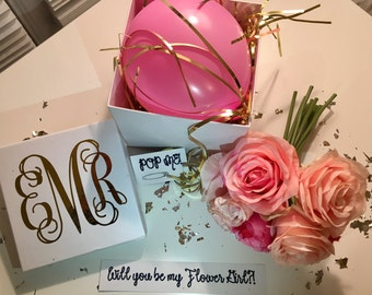 Will you be my Bridesmaid?! A balloon message gift box for your wedding party!