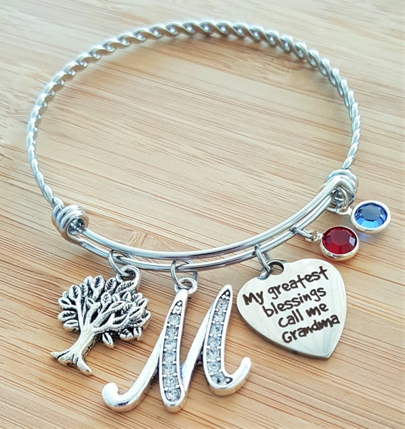 Grandma Bracelet Gifts for Grandma Grandma Gift Grandma Jewelry Gift from Grandkids Personalized Grandma Gifts My Greatest Blessings