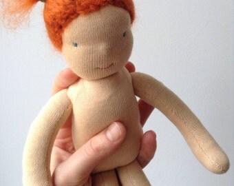 24 cm small waldorf doll, waldorf insipred doll by Ninna