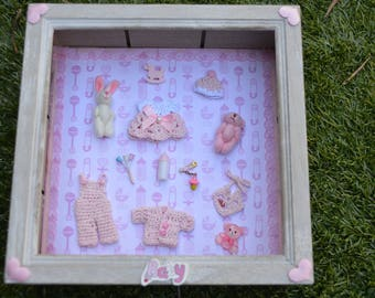 Miniature picture showcase room decor baby or baby shower