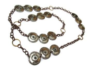 Hippy necklace / Necklace with Celtic aspect / Vintage style necklace / Boho necklace / Gypsy necklace / Bohemian necklace Long necklace
