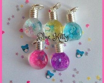 Blue Kitty Snowglobe Necklace