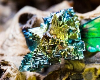 Rainbow Bismuth Crystal Piece