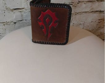 World of Warcraft Inspired Tooled wallet - Ready To Ship