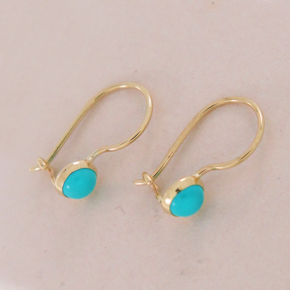 turquoise earrings gold turquoise drop earrings gold drop. Black Bedroom Furniture Sets. Home Design Ideas