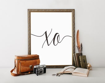 XO Print, Xo Wall Art, Modern Minimalist, Wall Art, Wall Decor,
