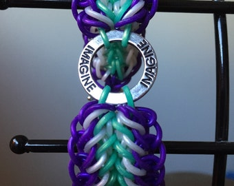 Imagine charm Purple/Mint/Frost band bracelet
