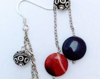 Pebble earrings  on SS chain