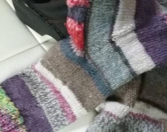 handmade knitted crazy socks