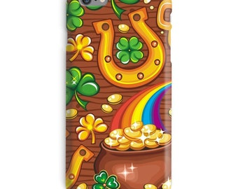 St Patricks Day iPhone Case, Irish iphone case, St Paddys print iphone 6 case, Ireland iphone 6 case, Gold iphone 6s case, Brown iphone case