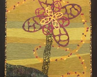 Petals in the Wind, art quilt