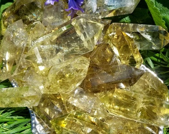 Natural Untreated Citrine Wands - 2 sizes - Attractor of Abundance, Health and Wealth, a Success Stone, Promotes Prosperity