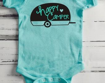 Happy Camper-  One Piece/Bodysuit