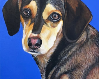 9x12 Custom Pet Portrait Acrylic Painting